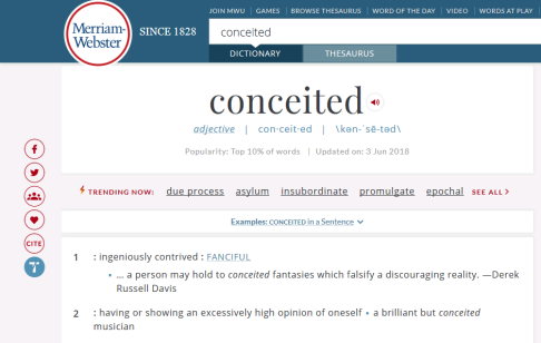 DictionaryConceited